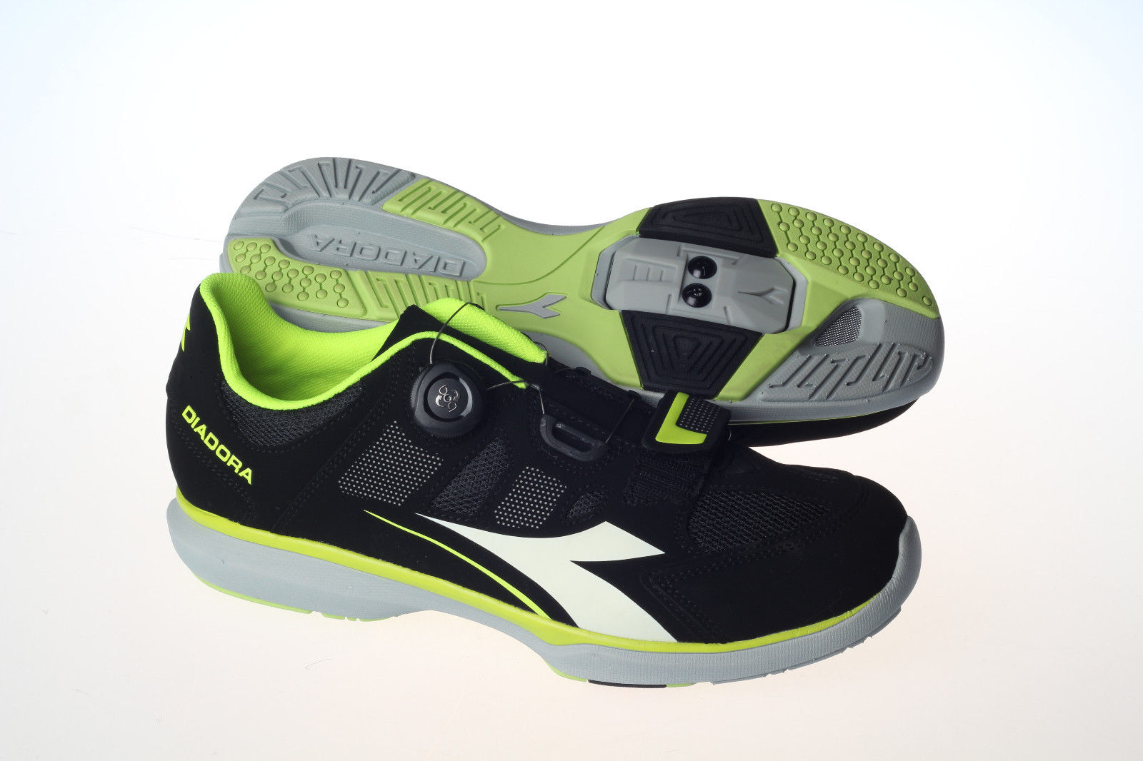 Diadora Gym Black Yellow Fluo White Shoes - Image 1