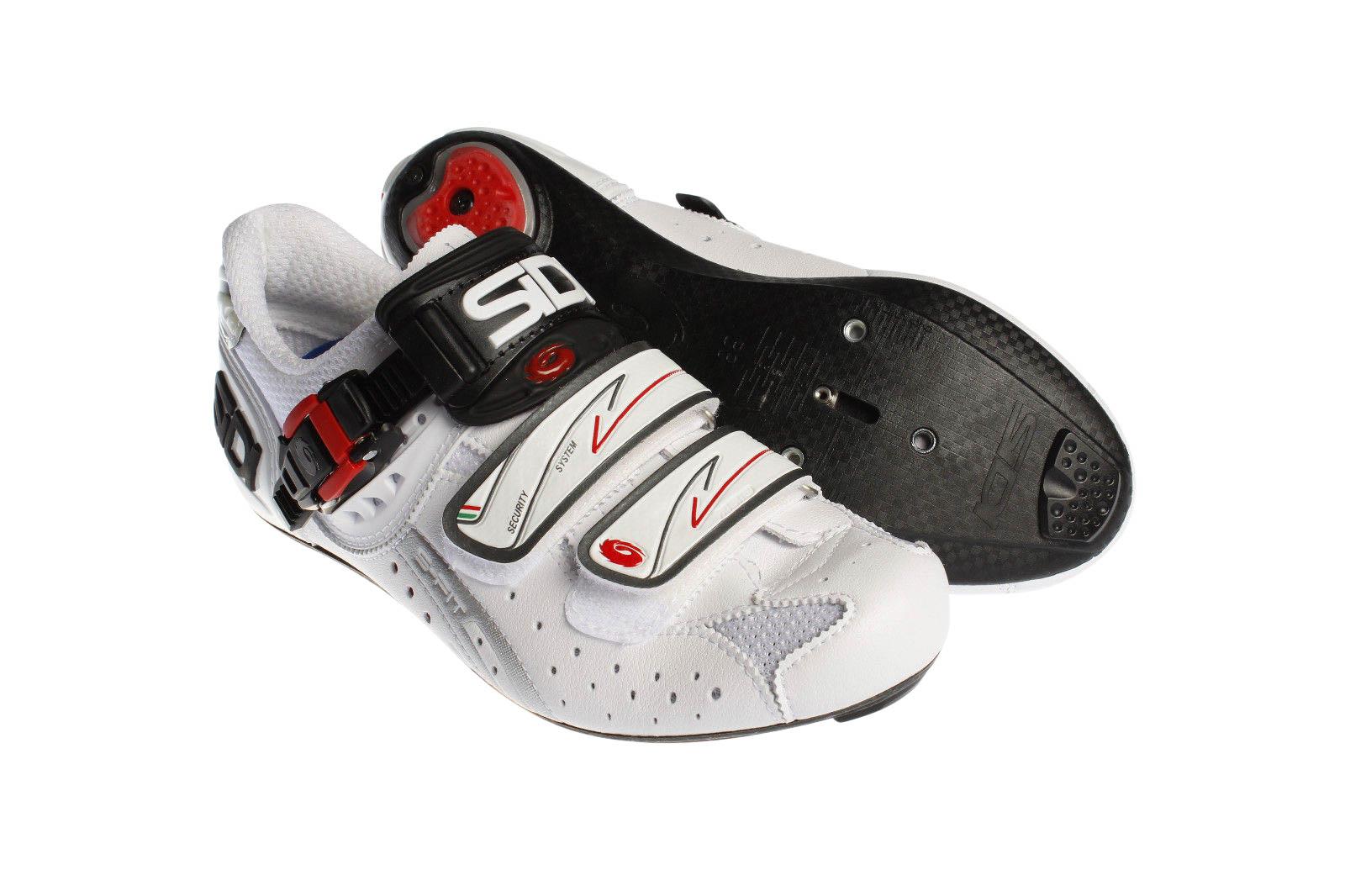 7a2cc9dee3a5a2 Sidi Genius 5-Fit Carbon White White Shoes | Shoes & Shoecovers